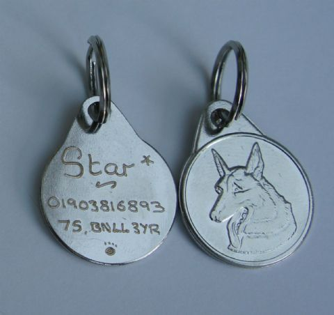 GERMAN SHEPHERD DOG TAG 25MM ENGRAVED